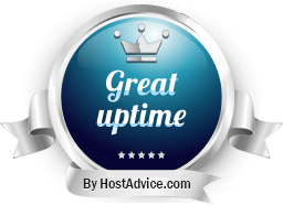 HostAdvice Great Uptime Award for Gen X Web Hosting